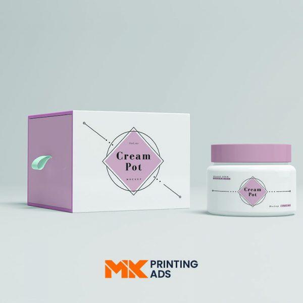 Custom Printed Cream Packaging