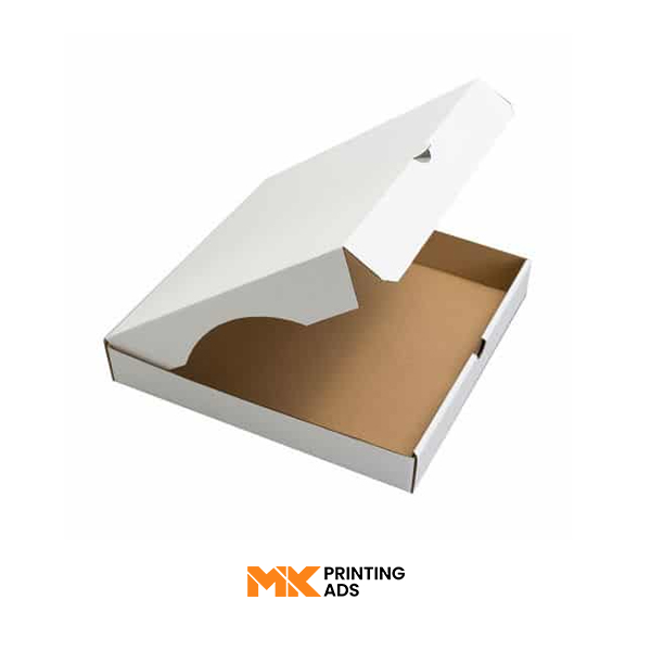 retail-White Corrugated Pizza Packaging